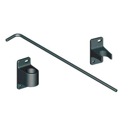 Fence Drive Gate Drop Rod Black