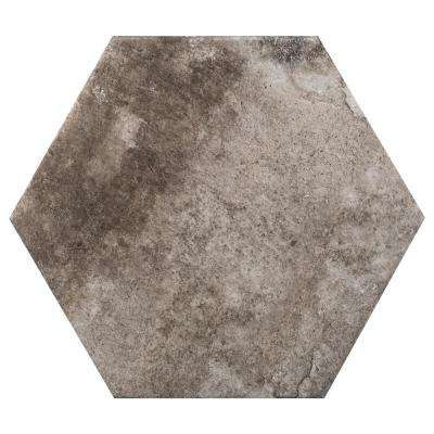 Newberry Grafite 9.45 in. x 10.91 in. Porcelain Floor and Wall Tile (10.46 sq. ft. / case)