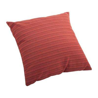 Rust Red Doggy Small Outdoor Throw Pillow