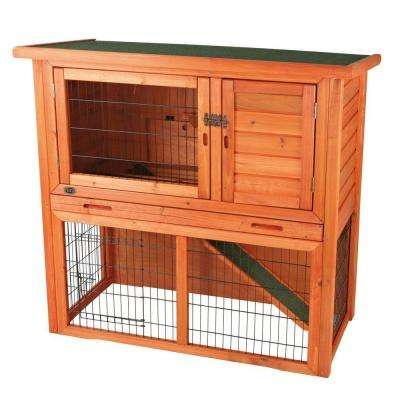 4 ft. x 2 ft. x 3 ft. Rabbit Hutch with Sloped Roof