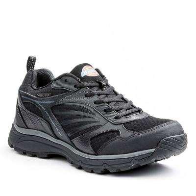 Stride Men Black Leather/Mesh Safety Work Shoe