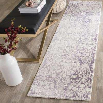 Passion Lavender/Ivory 2 ft. x 6 ft. Runner Rug