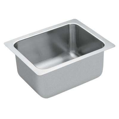 M-DURA Commercial Drop-In Stainless Steel 20 in. Single Basin Kitchen Sink Featuring QuickMount Hardware