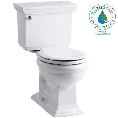 Memoirs Stately 2-piece 1.28 GPF Round Toilet with AquaPiston Flushing Technology in White