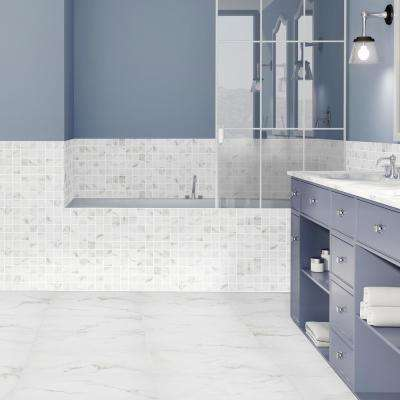 Michelangelo Calacatta Rectified 12 in. x 24 in. Porcelain Floor and Wall Tile (13.3 sq. ft. /case)