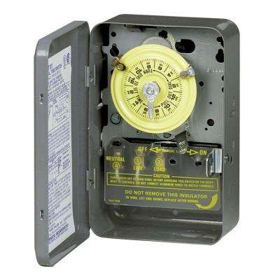T100 Series 40 Amp 125-Volt SPST 24 Hour Mechanical Time Switch with Indoor Enclosure