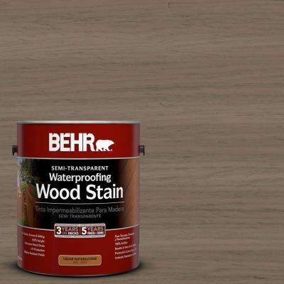1-gal. #ST-159 Boot Hill Grey Semi-Transparent Waterproofing Wood Stain