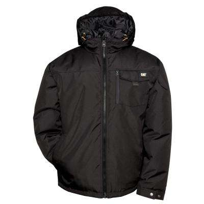 Vail Men's Black Polyester Water Resistant Insulated Jacket