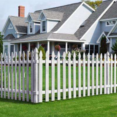 4 in. x 4 in. x 5 ft. Cedar French Gothic Primed White Fence Post (2-Pack)