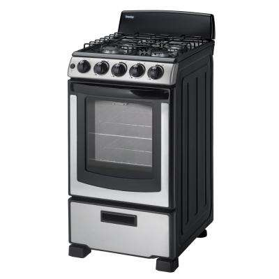 20 in. 2.3 cu. ft. Gas Range with Manual Clean Oven in Stainless Steel