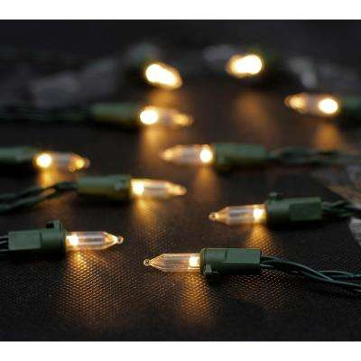 20 ft. 50-Light LED Warm White Battery Operated Mini LED Light String