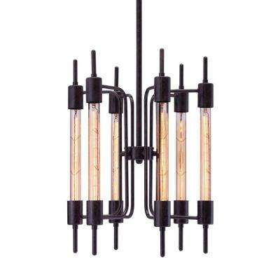 Gisborne 6-Light Rust Ceiling Lamp