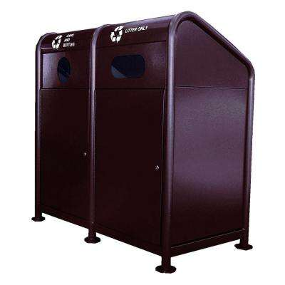 68 Gal. Steel Recycling Station in Brown