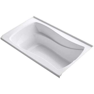 Mariposa 5 ft. Right Drain Soaking Tub in White with Bask Heated Surface