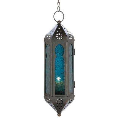 Blue Moroccan Candle Lantern