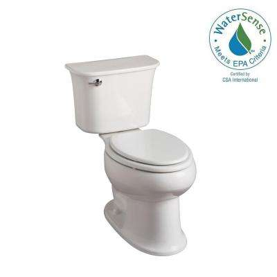 Stinson 2-piece 1.28 GPF High Efficiency Elongated Toilet in White