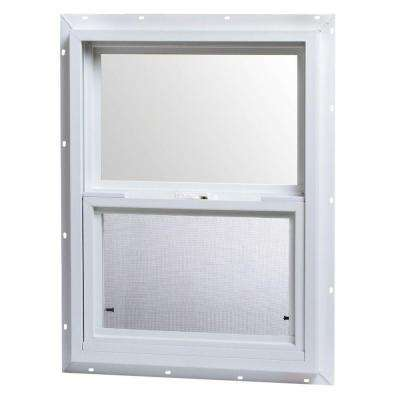 18 in. x 24 in. Single Hung Vinyl Window - White