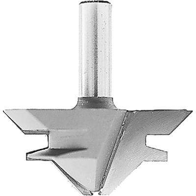 Carbide-Tipped 2-Flute 45 Degree Lock Miter Router Bit with 1/2 in. Shank