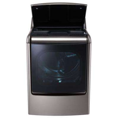 9.0 cu. ft. Gas Dryer with EasyLoad and Steam in Graphite Steel