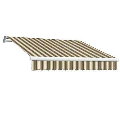 14 ft. MAUI EX Model Right Motor Retractable Awning (120 in. Projection) in Brown and Tan Multi Stripe
