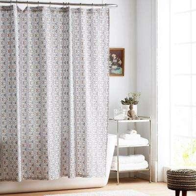Zahra Organic Cotton Percale Shower Curtain
