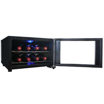 8-Bottle Single Zone Thermoelectric Wine Cooler in Silver