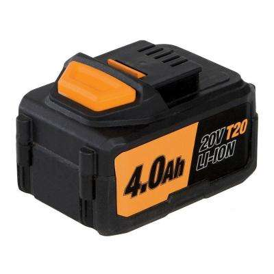 4.0Ah 20-Volt Lithium-Ion Replacement Battery