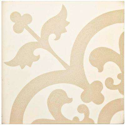 Cemento Empress Beach 7-7/8 in. x 7-7/8 in. Cement Handmade Floor and Wall Tile