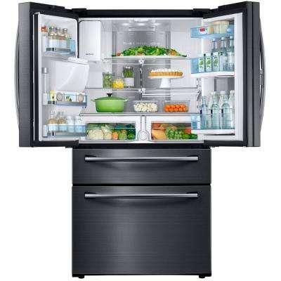 27.8 cu. ft. Food Showcase 4-Door French Door Refrigerator in Fingerprint Resistant Black Stainless
