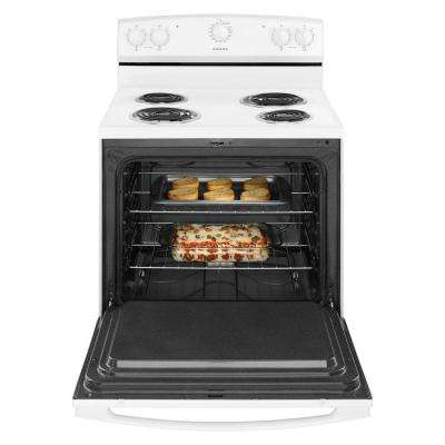 30 in. 4.8 cu. ft. Electric Range in White