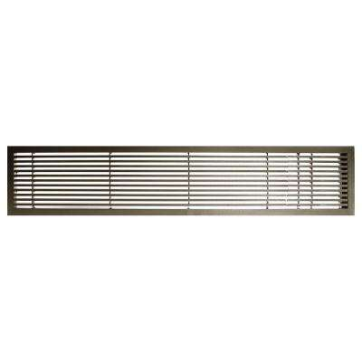 AG20 Series 6 in. x 42 in. Solid Aluminum Fixed Bar Supply/Return Air Vent Grille, Antique Bronze with Right Door