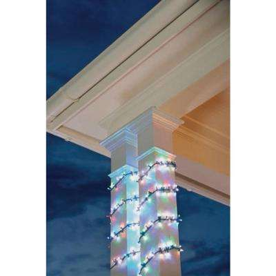 9 ft. 150-Light LED Multi-Colored Garland Lights with Dual Functions