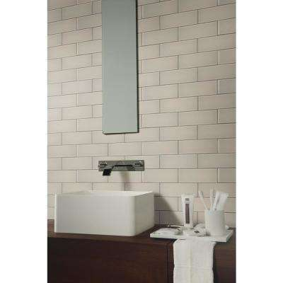 Snow Cap White 3 in. x 9 in. x 8mm Glass Wall Tile (0.125 sq. ft.)