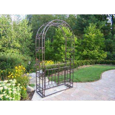 87 in. x 47.5 in. Arbor with Gate and Base