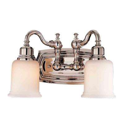 Canterbury 2-Light Polished Nickel Vanity Light