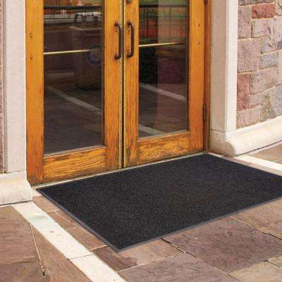 Enviroback Charcoal 60 in. x 36 in. Recycled Rubber/Thermoplastic Rib Door Mat