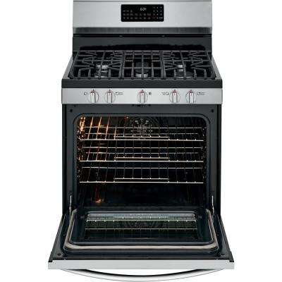 5.0 cu. ft. Gas Range with True Convection Self-Cleaning Oven in Stainless Steel with Air Fry