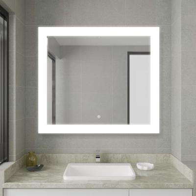 30.00 in. Width x 33.50 in. Height Frameless LED Lighted Bathroom Mirror
