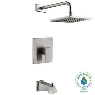 Marx Single-Handle 1-Spray Tub and Shower Faucet in Brushed Nickel