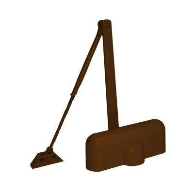 Heavy-Duty Brown Residential Door Closer