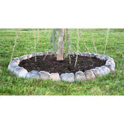 Edge Stone 4 in. x 12 in. x 3 in. Multi-Colored Concrete Overlapping River Rock Edging (210-Pack)