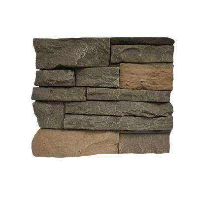 Stacked Stone Stratford 11 in. x 11 in. Faux Stone Siding Sample