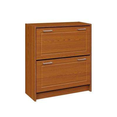 29 in. W Fruitwood Double Shoe Cabinet