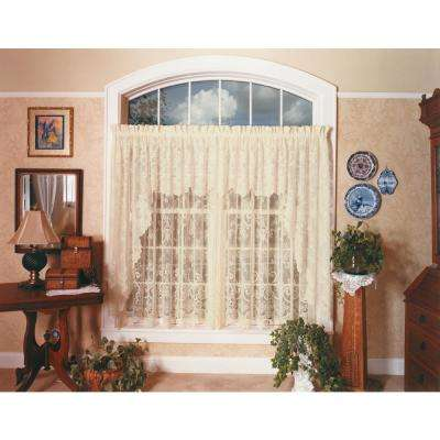 English Ivy 60 in. L Polyester Valance in Ecru