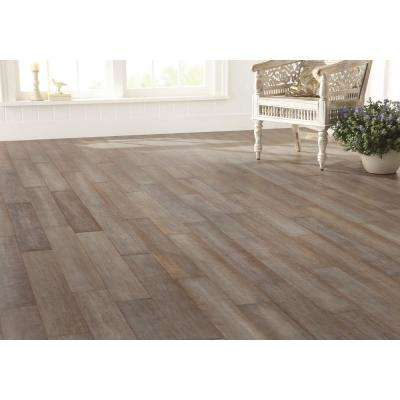 Hand Scraped Strand Woven Earl Grey 1/2 in. T x 5-1/8 in. W x 72-7/8 in. L Solid Bamboo Flooring