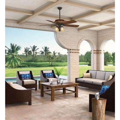 Heathridge 60 in. Indoor/Outdoor Aged Steel Ceiling Fan with Universal Wall Control