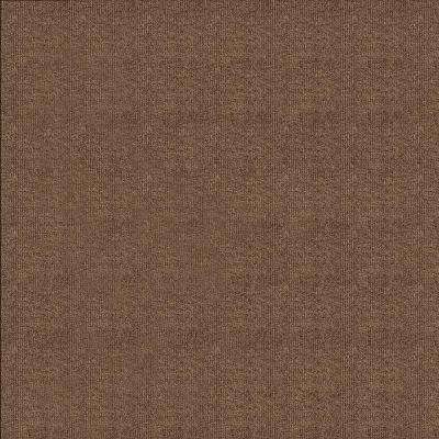 First Impressions Chestnut Ribbed Texture 24 in. x 24 in. Carpet Tile (15 Tiles/Case)