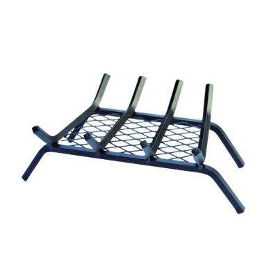 18 in. Steel Bar Fireplace Grate with Ember Retainer