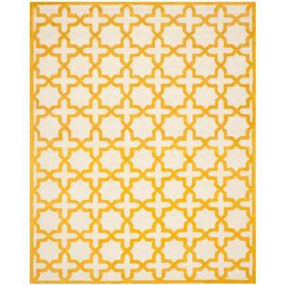 Cambridge Ivory/Gold 8 ft. x 10 ft. Area Rug