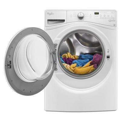 4.2 cu. ft. Compact Front Load Washer with Adaptive Wash Technology in White, 8 Cycles